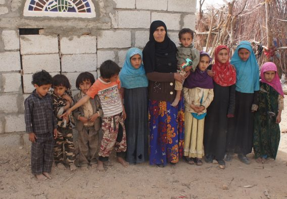Relatives of those who died, including the seven children of Fatim Saleh Mohson al Ameri.